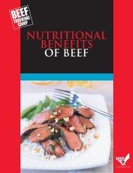 nutritional benefits of beef - BeefRetail.org