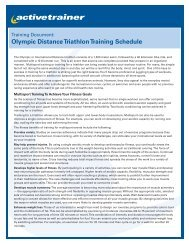 Olympic Distance Triathlon Training Schedule - Active.com
