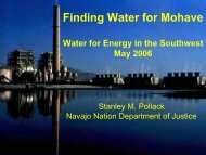 Stanley M. Pollack, Navajo Nation Department of Justice - Utton ...