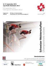 Championnats suisses Schweizer Meisterschaften - Gym Chézard ...