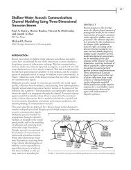Shallow-water acoustic communications channel modeling using 3D ...
