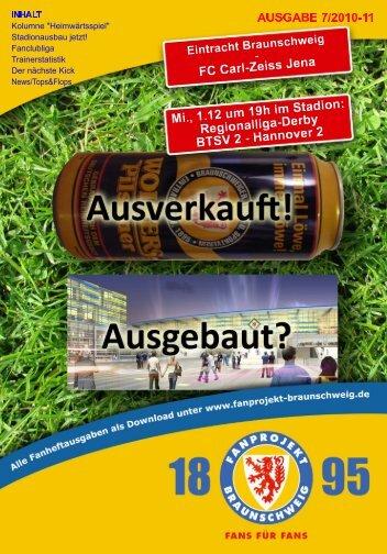 Heft 07: FC Carl-Zeiss Jena - FanPresse Braunschweig