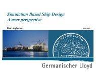 Simulation Based Ship Design A user perspective - wondermar ii