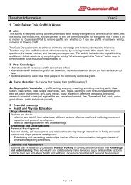 Teacher Information Year 3 - Queensland Rail