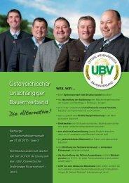 Folder downloaden - UBV - Österreichischer Unabhängiger ...
