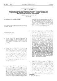 DECISIONE DELLA COMMISSIONE del 28 novembre ... - EUR-Lex