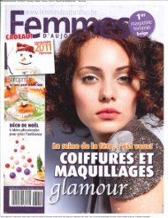 Femmes d'Aujourd'hui 16/12/2010 Periodicity : Weekly Printrun ...