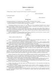VZOR - Smlouva o nájmu bytu - Slaný