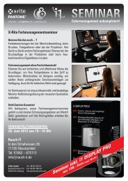 Seminar inkl. i1 DISPLAY PRO nur 199,- Euro - Rauch IT