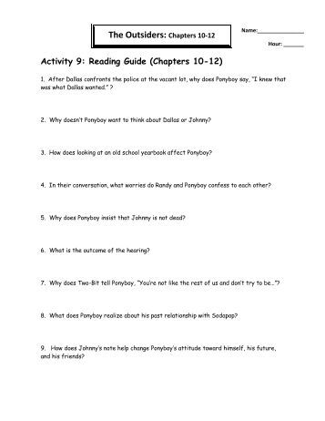 the outsiders chapters 5 6 questions vocabulary