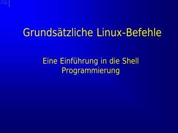 Grundsätzliche Linux-Befehle - drap
