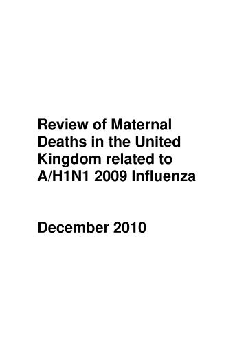 Review of Maternal Deaths in the United Kingdom related to ... - HQIP
