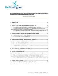 Medische databank inzake de beschikbaarheid en ... - Medimmigrant
