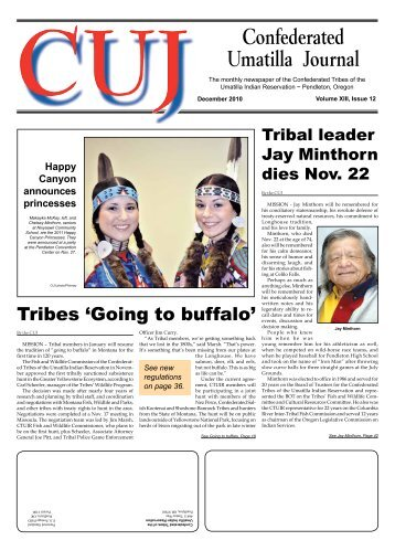 Confederated Umatilla Journal - Confederated Tribes of the Umatilla ...