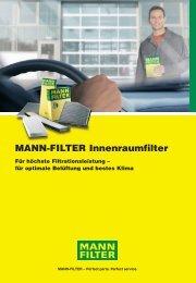 MANN-FILTER Innenraumfilter: Einfaches Handling - Technomag AG
