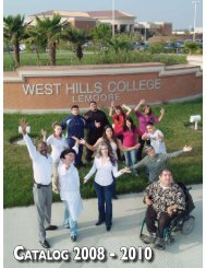 Catalog 2008 - 2010 - West Hills College