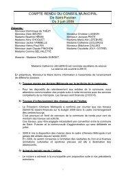 Conseil municipal du 3 juin 2009 - Saint-Fuscien