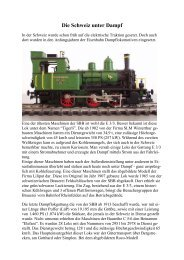 Schweizer Dampf - Wittis Modellbahn