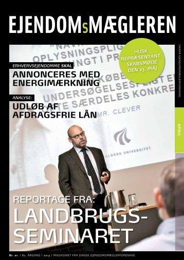 LANDBRUGS- SEMINARET - Dansk Ejendomsmæglerforening