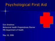 Psychological First Aid - Anoka County, Minnesota