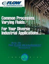 Industrial Solutions Brochure - Flow Technology