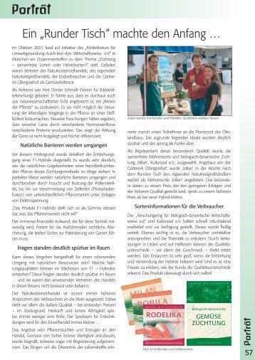 Redaktionelle Beiträge aus unserem Katalog 2006 - Bingenheimer ...