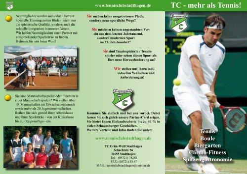 Tennis Boule Biergarten Cardio-Fitness Spitzengastronomie