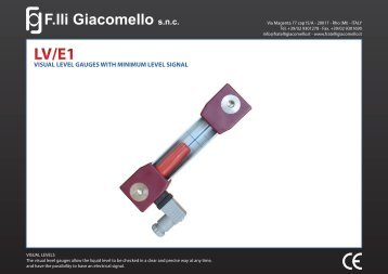 Technical Data - F.lli Giacomello