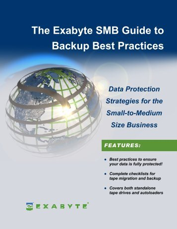 The Exabyte SMB Guide to Backup Best Practices - Tech Data