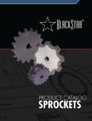 BlackStar Sprocket Catalog (PDF) - McGuire Bearing Company