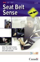 What YOU need to know about seat belts, air ... - Transports Canada