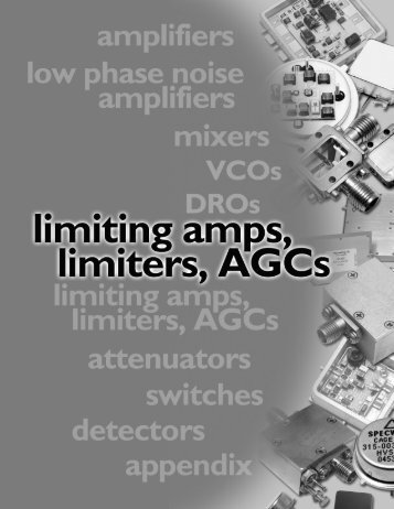 Limiting Amplifiers Databook - Spectrum Microwave by API ...