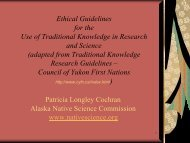 Ethical Guidelines for use of Traditional Knowledge in Research ...