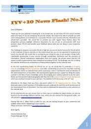IYV+10 News Flash 1 - World Volunteer Web