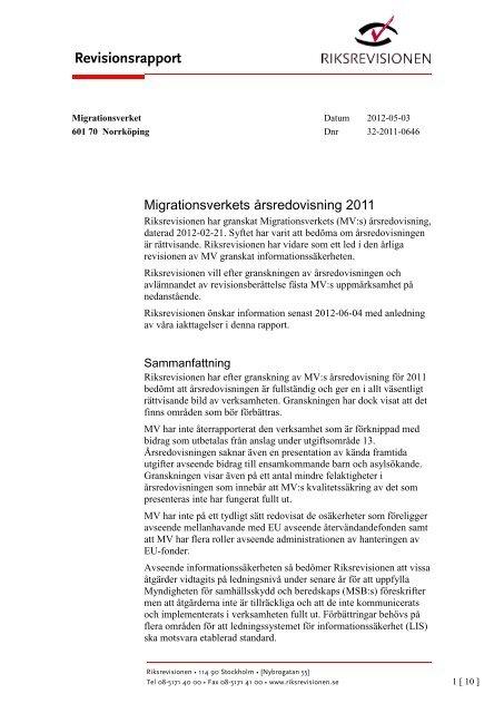 Ladda ned rapport (PDF) - Riksrevisionen