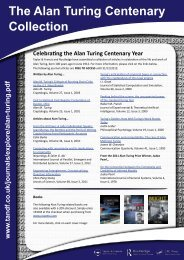 The Alan Turing Centenary Collection - Taylor & Francis