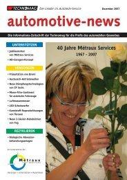 Auto-News 4/2007 de - Technomag AG