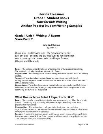Grade 1 - Treasures - Macmillan/McGraw-Hill