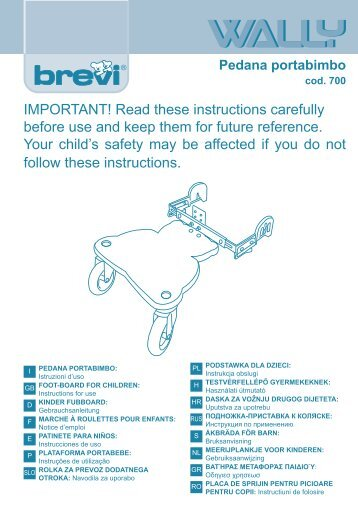 IMPORTANT! Read these instructions carefully before use and keep ...