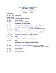 Opening Remarks/Agenda - EMS Users Conference
