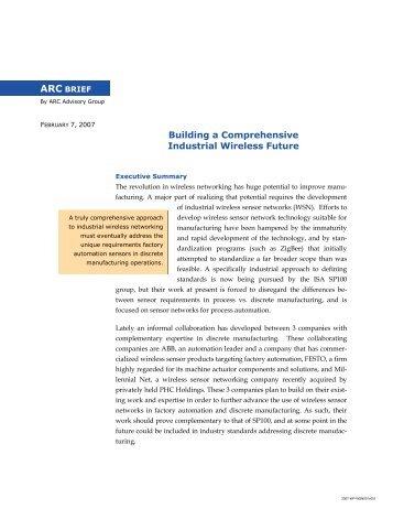 Building a Comprehensive Industrial Wireless Future - Millennial Net