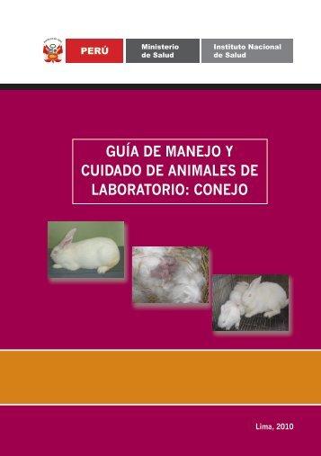 GUÍA DE MANEJO Y CUIDADO DE ANIMALES ... - Bvs.minsa.gob.pe