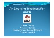 An Emerging Treatment Modality for COPD - Tour Hosts Pty Limited