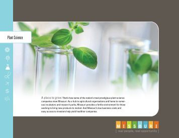 Plant Science - Missouri Department of Economic Development