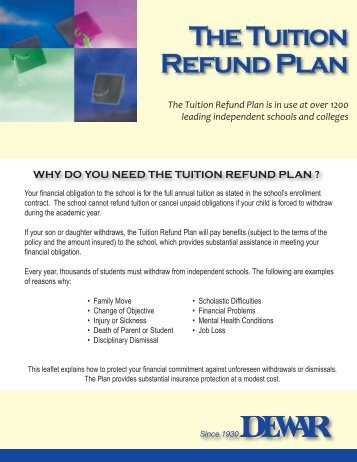 The Tuition Refund Plan