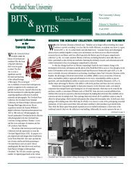 Volume 5, issue 1 Fall 1999 - Cleveland State University