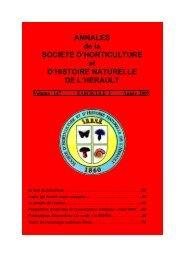ANNALES de la SOCIETE D'HORTICULTURE et ... - INRA Montpellier