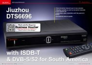 Jiuzhou DTS6696 - TELE-satellite International Magazine