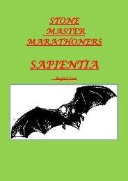 Sapientia August 2013 - Stone Master Marathoners