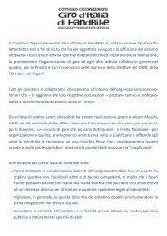 Il Comitato Organizzatore del Giro d'Italia di HandBike è un ... - Anmil
